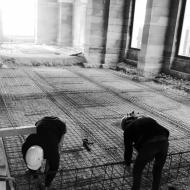 octobre 2016 / dépose de la toiture, ferraillage...
