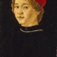 Florence 15e siècle Portrait de jeune homme (Vers 1460-1470) Huile sur bois 46 x 31 cm A .b. : EL TEMPO. CONSVMA Legs Jean Gigoux, 1894 (inv.896.1.157)