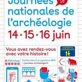 Journées nationales de l'archéologie - Les 14, 15 et 16 juin 2019