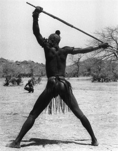 A-bracelet-fighter-of-Kao-Nyaro-tribe-challenges-a-fellow-tribesman-to-come-and-fight